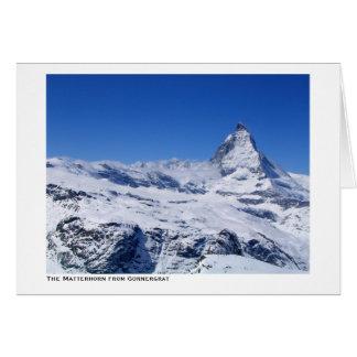 The Matterhorn from Gornergrat Greeting Card
