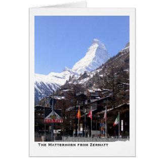 The Matterhorn from Zermatt Greeting Card