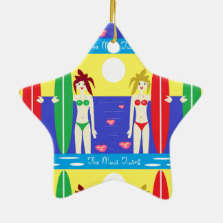 The Maui Twins Double-Sided Star Ceramic Christmas Ornament