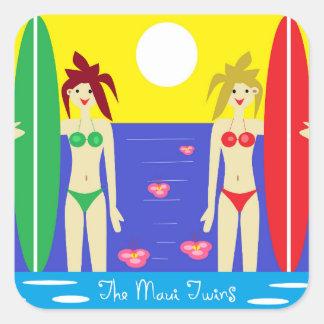 The Maui Twins Square Sticker