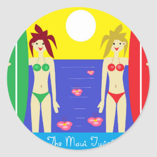 The Maui Twins Classic Round Sticker