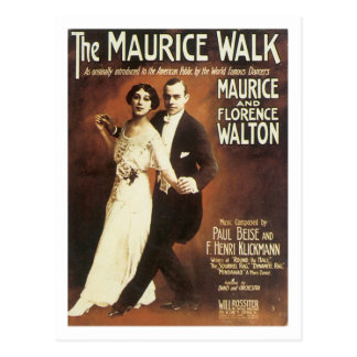The Maurice Walk Vintage Songbook Cover Postcard