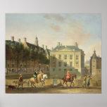 The Mauritshuis from the Langevijverburg Print