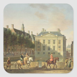 The Mauritshuis from the Langevijverburg Square Sticker