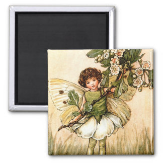 The May Fairy 2 Inch Square Magnet