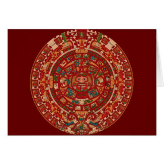 The Mayan (Aztec) Calendar Wheel Card