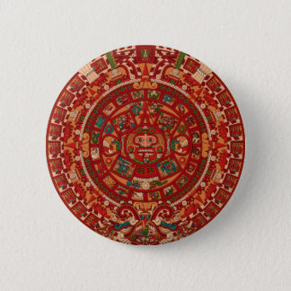 The Mayan / (Aztec) calendar wheel Pinback Button