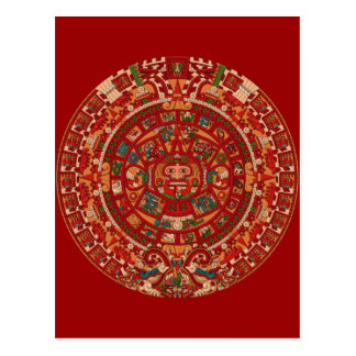 The Mayan (Aztec) Calendar Wheel Postcard