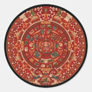 The Mayan / (Aztec) calendar wheel Sticker