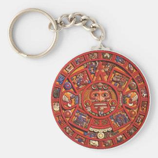 The Mayan Calendar Basic Round Button Keychain