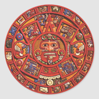 The Mayan Calendar Round Stickers