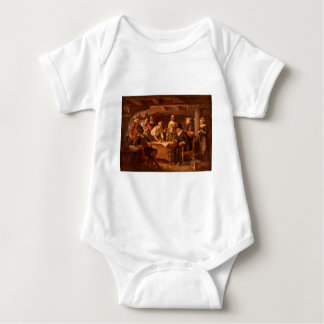 The Mayflower Compact by Jean Leon Gerome Ferris Baby Bodysuit