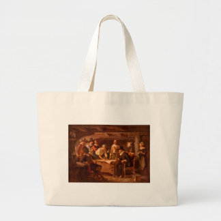 The Mayflower Compact by Jean Leon Gerome Ferris Large Tote Bag