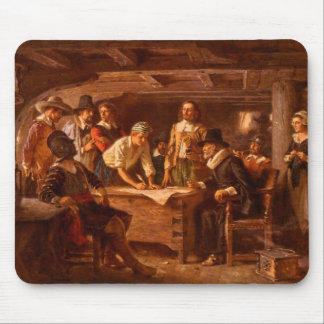 The Mayflower Compact by Jean Leon Gerome Ferris Mouse Pad