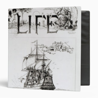The Mayflower, front cover from 'Life' 3 Ring Binder