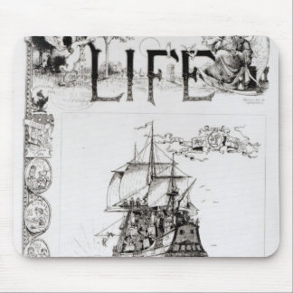 The Mayflower, front cover from 'Life' Mouse Pad