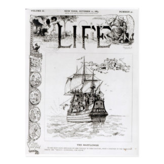 The Mayflower, front cover from 'Life' Postcard