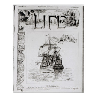 The Mayflower, front cover from 'Life' Poster