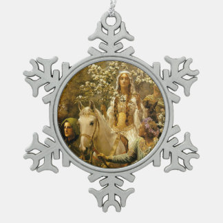 The Maying of Guinevere Snowflake Pewter Christmas Ornament