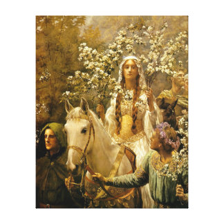 The Maying of Queen Guinevere by John Collier Canvas Print