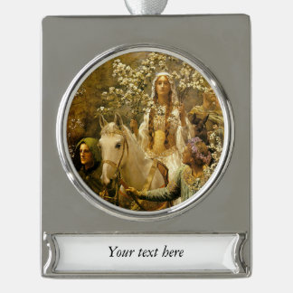 The Maying of Queen Guinevere Silver Plated Banner Ornament