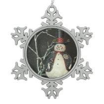 The Mayor Snowflake Pewter Christmas Ornament
