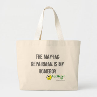 The Maytag Repairman is my Homeboy - Appliance Jumbo Tote Bag