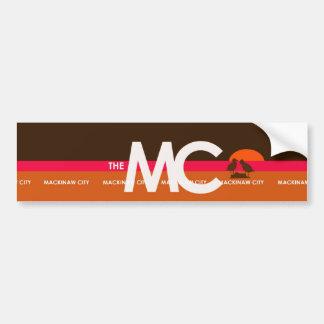 The MC Mackinaw City, MI Bumper Sticker