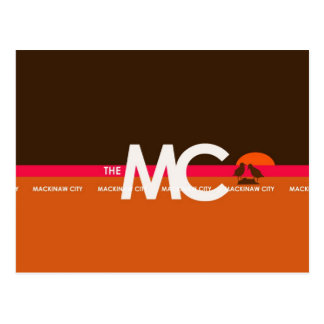 The MC Mackinaw City MI Postcard