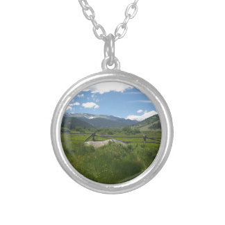 The Meadow at Guanella Pass Round Pendant Necklace