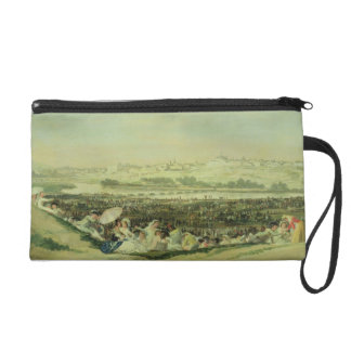 The Meadow at San Isidro, 1788 (oil on canvas) Wristlet Purse