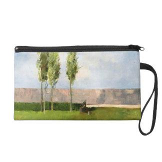 The Meadow by Odilon Redon Wristlet Clutch