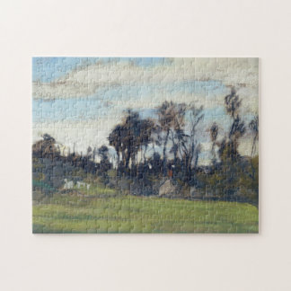 The Meadow Lined with Trees Monet Fine Art Jigsaw Puzzle