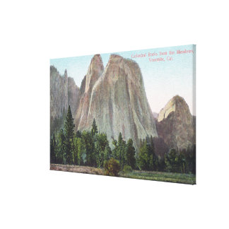 The Meadows View of Cathedral Rocks Canvas Print