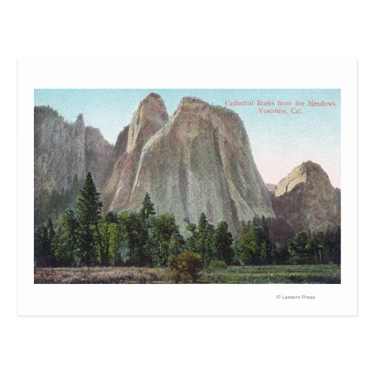 The Meadows View of Cathedral Rocks Postcard