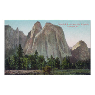 The Meadows View of Cathedral Rocks Print