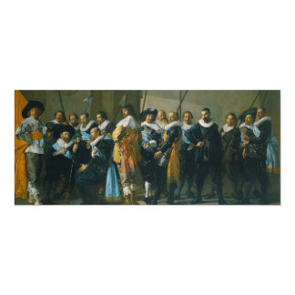 The Meagre Company by Frans Hals 1637 Card
