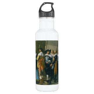 The Meagre Company by Frans Hals 1637 Water Bottle