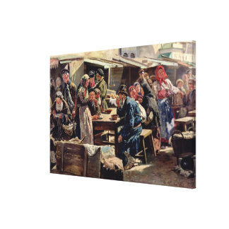 The Meal, 1875 Canvas Print
