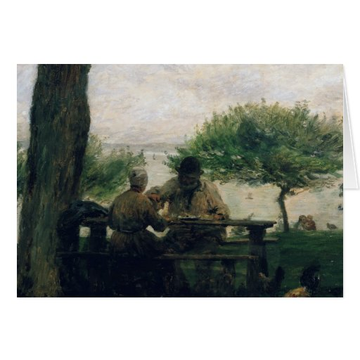 The Meal at Honfleur, 1875 Card