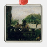 The Meal at Honfleur, 1875 Christmas Ornament