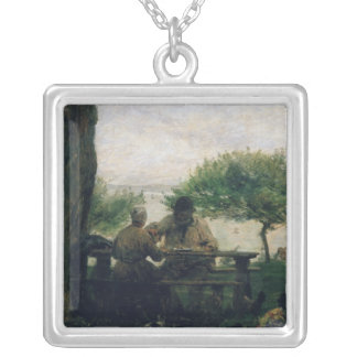 The Meal at Honfleur, 1875 Custom Necklace
