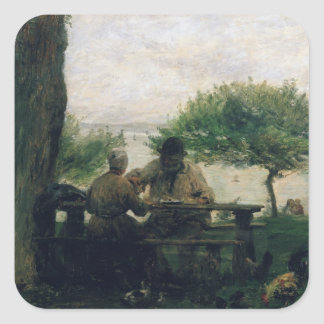 The Meal at Honfleur, 1875 Square Sticker
