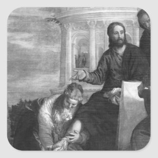 The Meal at the House of Simon the Pharisee Square Sticker