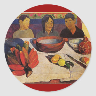'The Meal' - Paul Gauguin Sticker