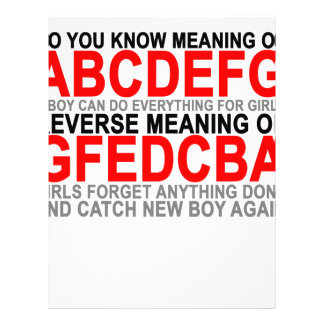 The Meaning of abcdefg T-Shirts.png Personalized Letterhead