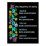 The Meaning of Aloha Postcard