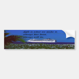 The meaning of life Inspirational quote Bumper Sticker