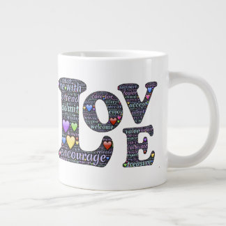 The Meaning of Love Giant Coffee Mug
