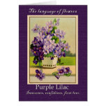 The Meaning of the Lilac Greeting Card